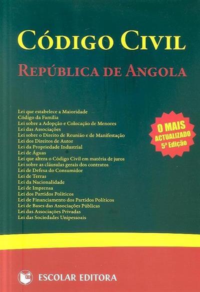 Código civil, República de Angola