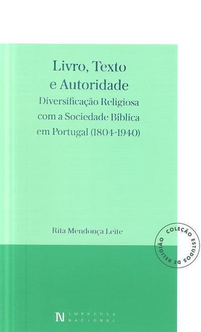 Livro, texto e autoridade (Rita Mendonça Leite)