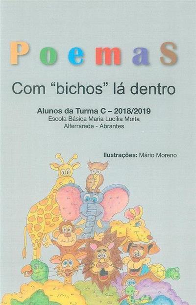 """Poemas com """"bichos"""" lá dentro (il. Mário Moreno)"""