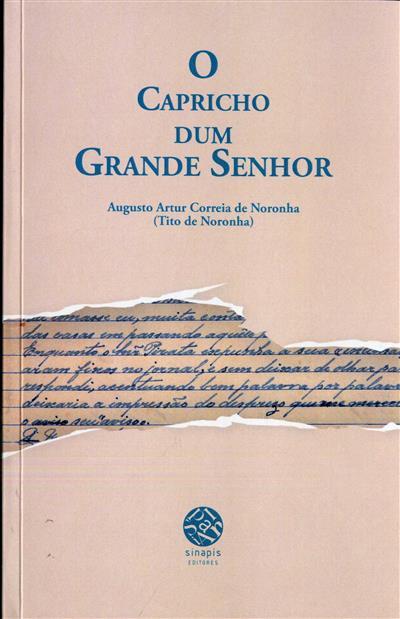 O capricho dum grande senhor (Augusto Artur Correia de Noronha)
