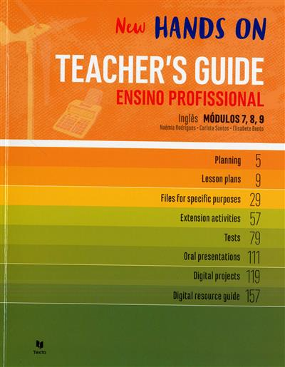 New hands on teacher's guide (Noémia Rodrigues, Carlota Santos, Elisabete Bento)