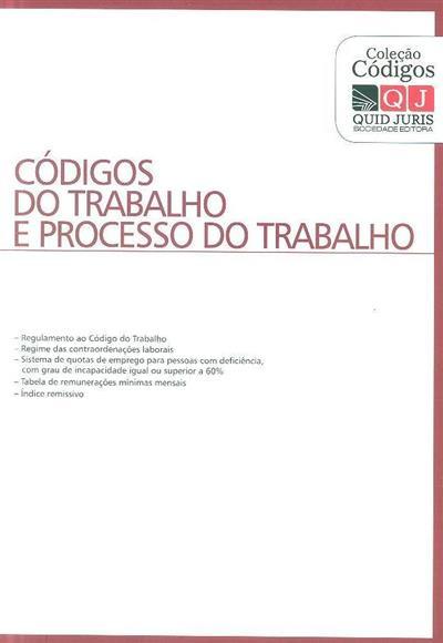 Códigos do trabalho e de processo do trabalho