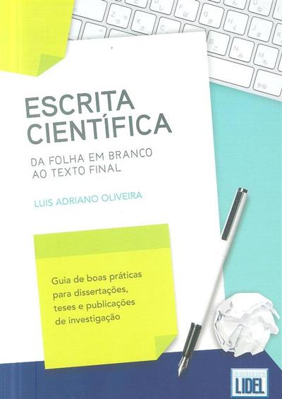 Escrita científica (Luís Adriano Oliveira)