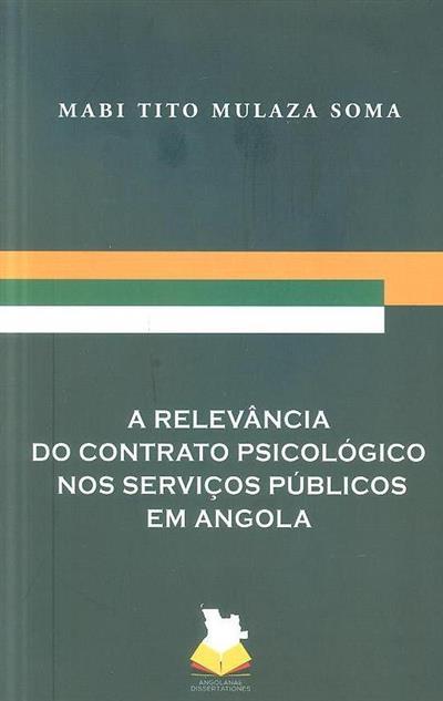 A relevância do contrato psicológico nos serviços públicos em Angola (Mabi Tito Mulaza Soma)