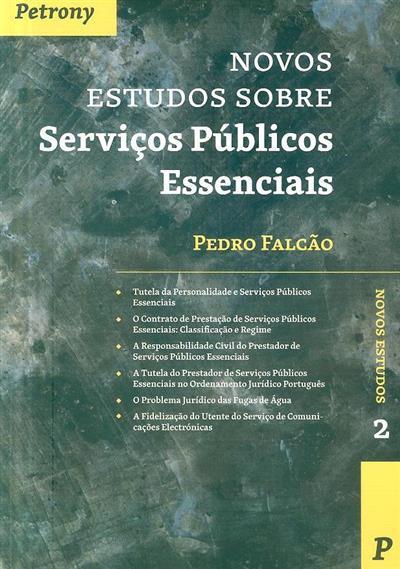 Novos estudos sobre serviços públicos essenciais (Pedro Falcão)