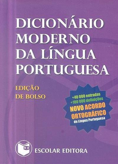 Dicionário moderno de língua portuguesa