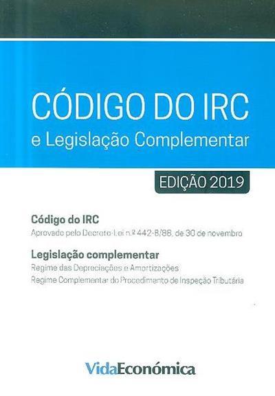 Código do IRC e legislação complementar, 2019