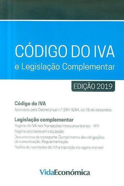 Código do IVA e legislação complementar, 2019