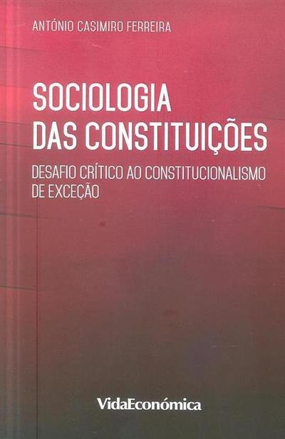 Sociologia das constituições (António Casimiro Ferreira)