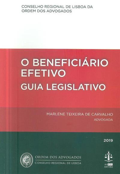 O beneficiário efetivo (textos Marlene Teixeira de Carvalho)