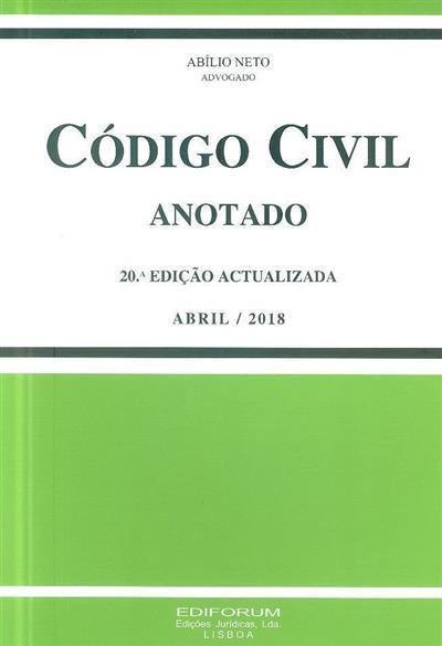 Código civil (anot. Abílio Neto)