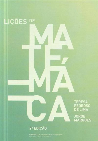 Lições de matemática (Teresa Pedroso de Lima, Jorge Marques)
