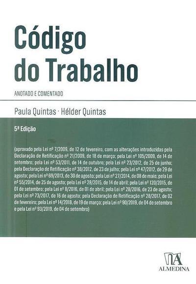 Código do trabalho (Paula Quintas, Hélder Quintas)