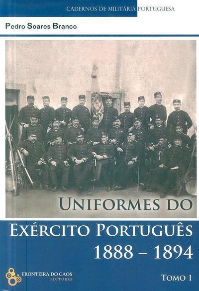 Uniformes do exército português 1888-1894 (Pedro Soares Branco)