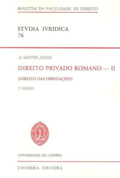 Direito das obrigações (A. Santos Justo)