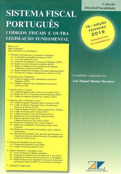 Sistema fiscal português (compil., org. José Manuel Martins Marreiros)