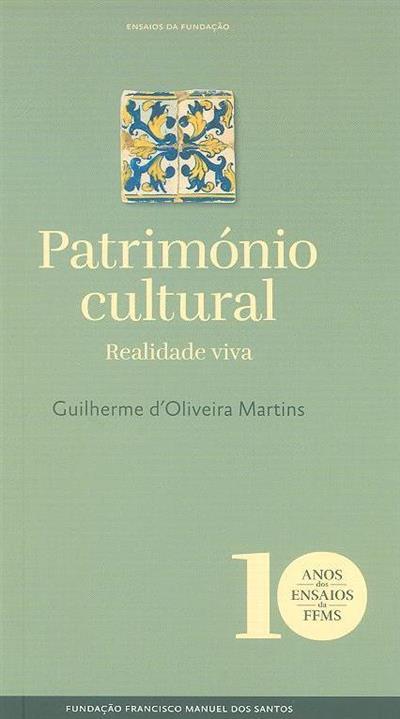 Património cultural (Guilherme d'Oliveira Martins)
