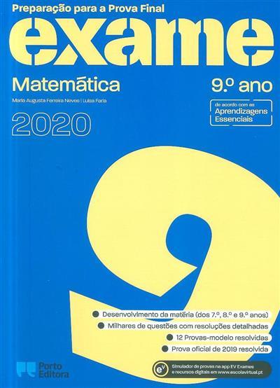 Preparação para a prova final 2020 (Maria Augusta Ferreira Neves, Luísa Faria)