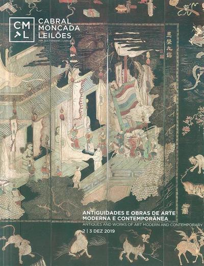 Antiguidades e obras de arte moderna e contemporânea (Cabral Moncada Leilões)