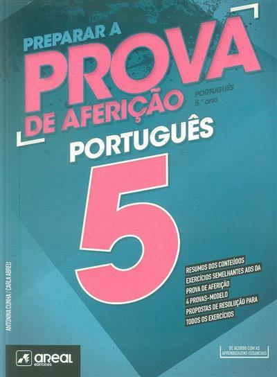 Preparar a prova de aferição (Antonina Cunha, Carla Abreu)