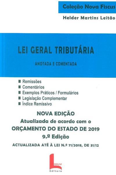 Lei geral tributária (Helder Martins Leitão)
