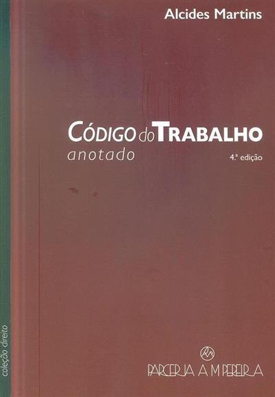 Código do trabalho (Alcides Martins)