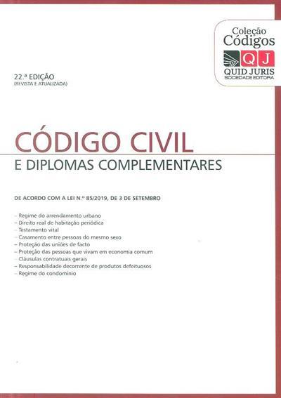 Código civil e diplomas complementares