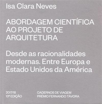 Abordagem científica ao projeto de arquitetura (Isa Clara Neves)