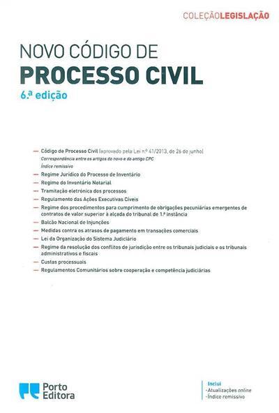 Novo código de processo civil (coord. Isabel Rocha, Carlos José Batalhão)