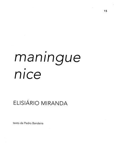 Maningue nice (Elisário Miranda)