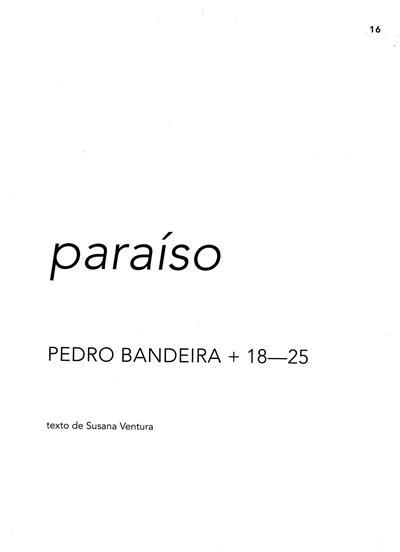 Paraíso (Pedro Bandeira + 18-25)