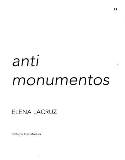 Anti monumentos (Elena Lacruz)