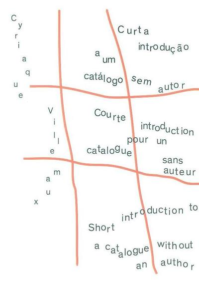 Curta introdução a um catálogo sem autor (introd. Cyriaque Villemaux)