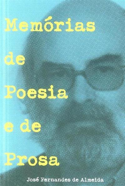 Memórias de poesia e prosa (José Fernandes de Almeida)
