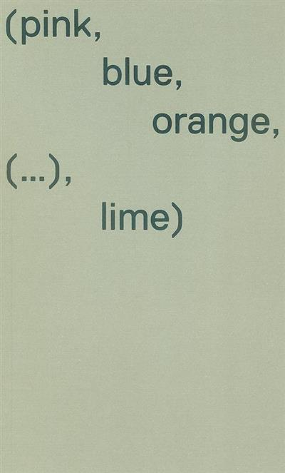 Sandra Baía, (pink, blue, orange, (...), lime (textos Fernando Melo)