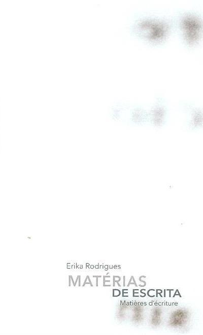 Matérias de escrita (Erika Rodrigues)