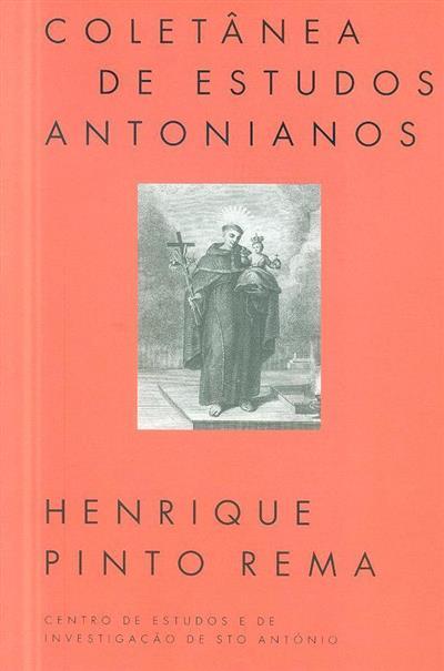 Coletânea de Estudos Antonianos (Henrique Pinto Rema... [et al.])