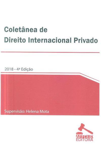Coletânea de direito internacional privado (supervisão Helena Mota)