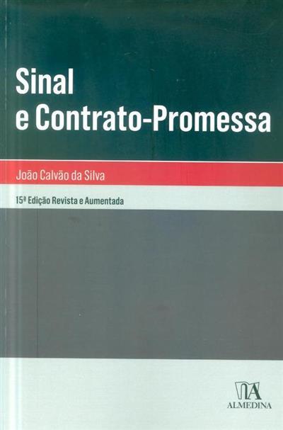 Sinal e contrato promessa (João Calvão da Silva)