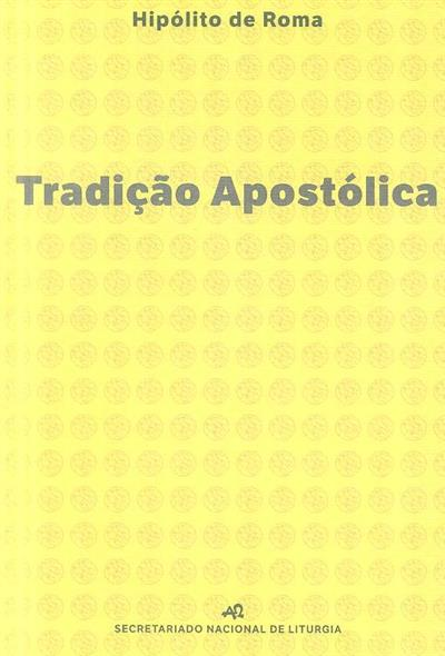 Tradição apostólica (Hipólito de Roma)