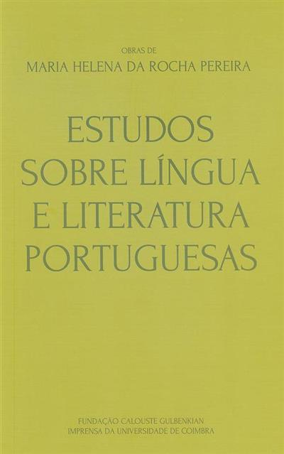 Estudos sobre língua e literatura portuguesa (Maria Helena da Rocha Pereira)