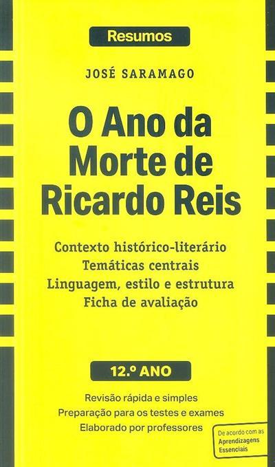O ano da morte de Ricardo Reis, José Saramago (criação intelectual Daniela Pinheiro, Ricardo Cruz)