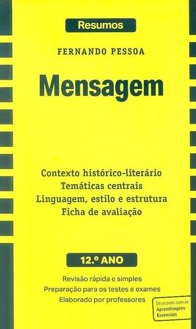 Mensagem, Fernando Pessoa, 12º ano (criação intelectual Auxília Ramos, Zaida Braga)