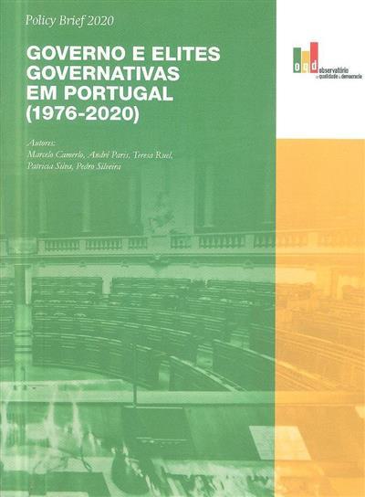 Governo e elites governativas em Portugal (1976-2020) (Marcelo Camerlo... [et al.])