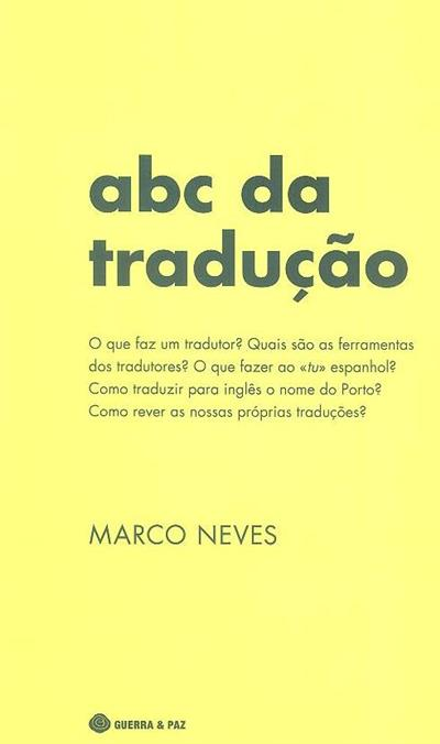ABC da tradução (Marco Neves )
