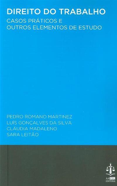 Direito do trabalho (Pedro Romano Martinez... [et al.])