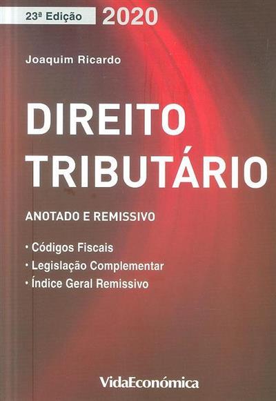 Direito tributário (Joaquim Ricardo)