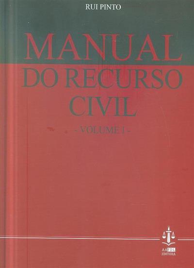 Manual do recurso civil (Rui Pinto)