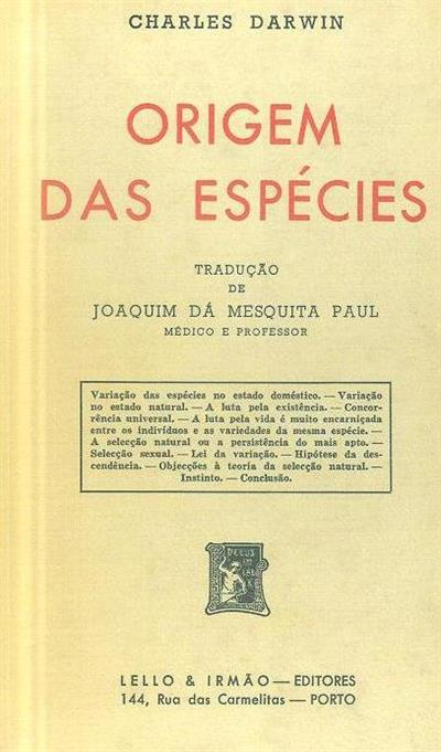 Origem das espécies (Charles Darwin)