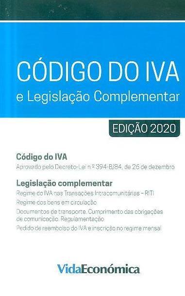 Código do IVA e legislação complementar, 2020